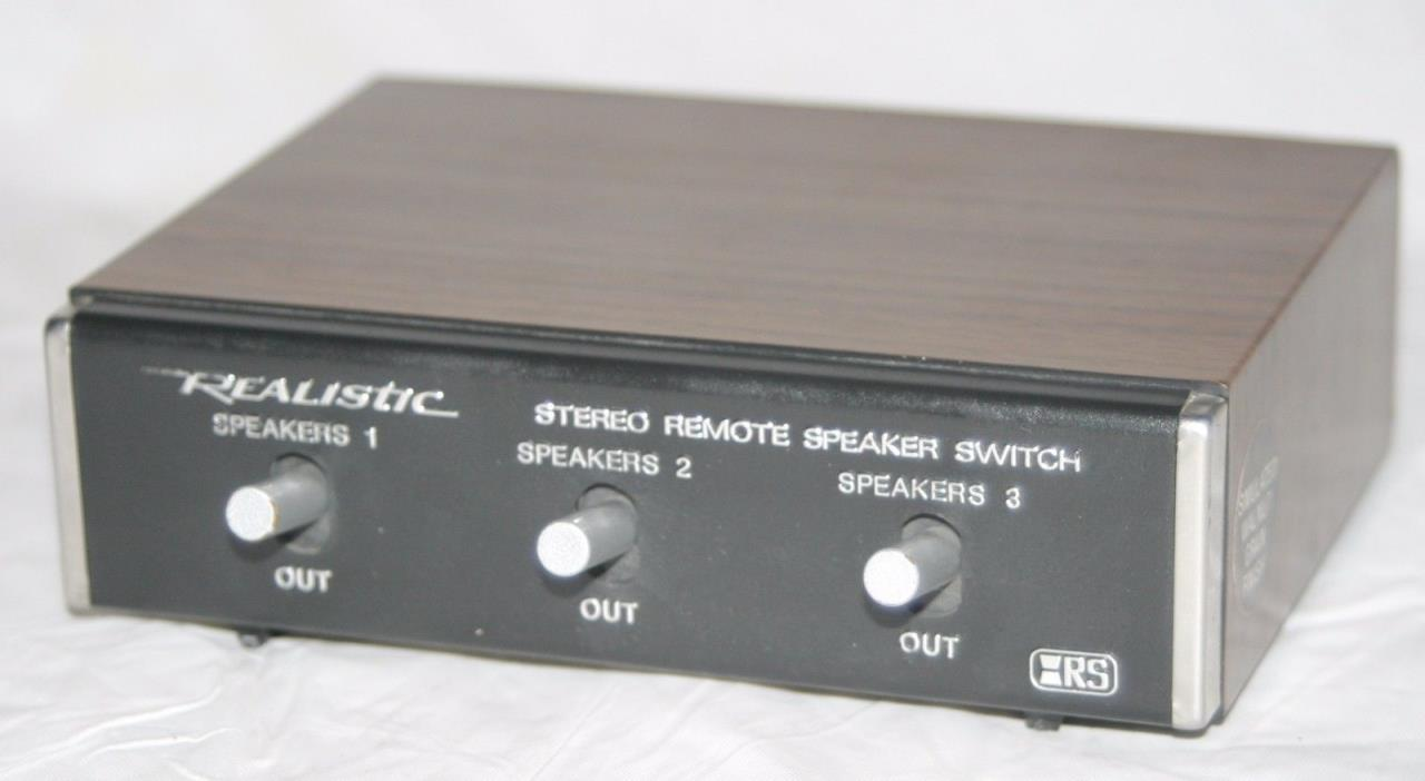 Realistic 3-way Stereo Remote Speaker Switch #40-125A - Vintage Look - Working