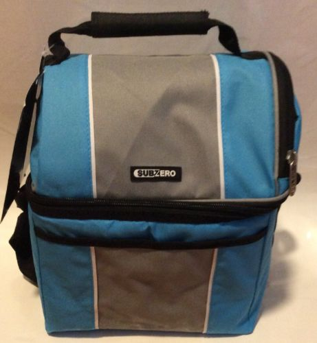 Sub Zero Jumbo Dual Compartment Lunch Cooler Blue (NEW)