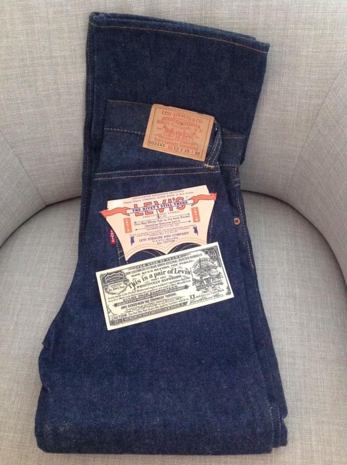 Vintage LEVI'S Denim Jeans 503ZXX Youth Kids 10 25x30 New Deadstock 50's 60's