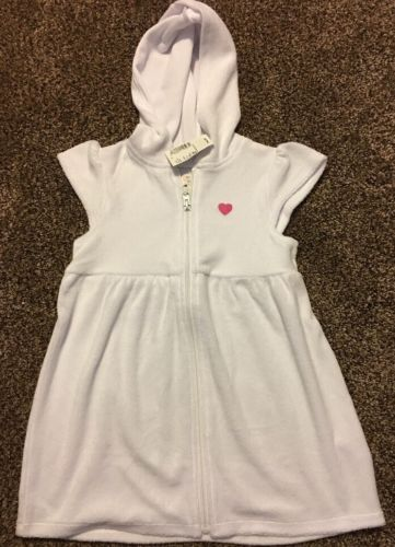 Children's Place White Cover Up Toddler Girls Size 4T Zip Up New With Tags