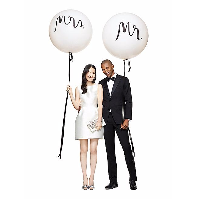 Kate Spade New York Giant Mr. and Mrs. Balloon Set