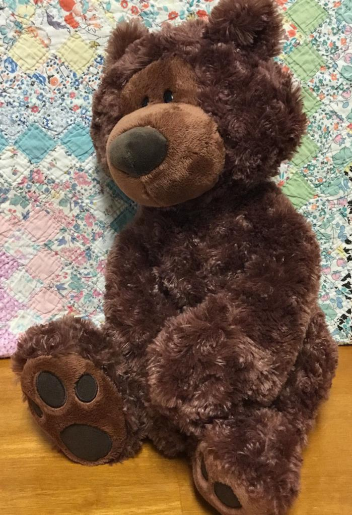 Gund Teddy Bear Philbin Large Plush stuffed animal toy Bean bag 18