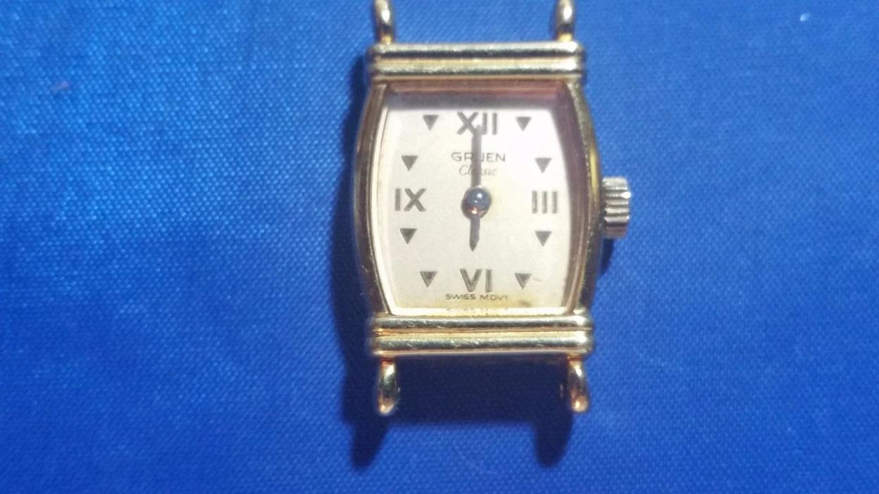 Gruen Classic 6 jewels Women's Watch for parts Swiss Movement