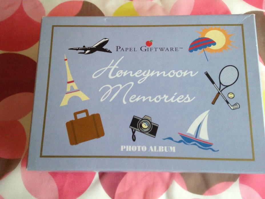 Beach Vacation Honeymoon Memories Photo Album Hold 24Papel Giftware New w/Defect