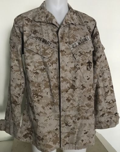 USMC US MARINE CORPS COMBAT DESERT DIGITAL MARPAT JACKET Medium Reg  Excellent