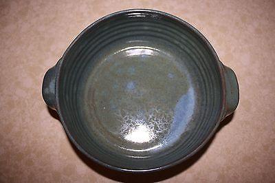 Blue Green Casserole Dish ~ Shelton Pottery SEAGROVE, North Carolina Pottery
