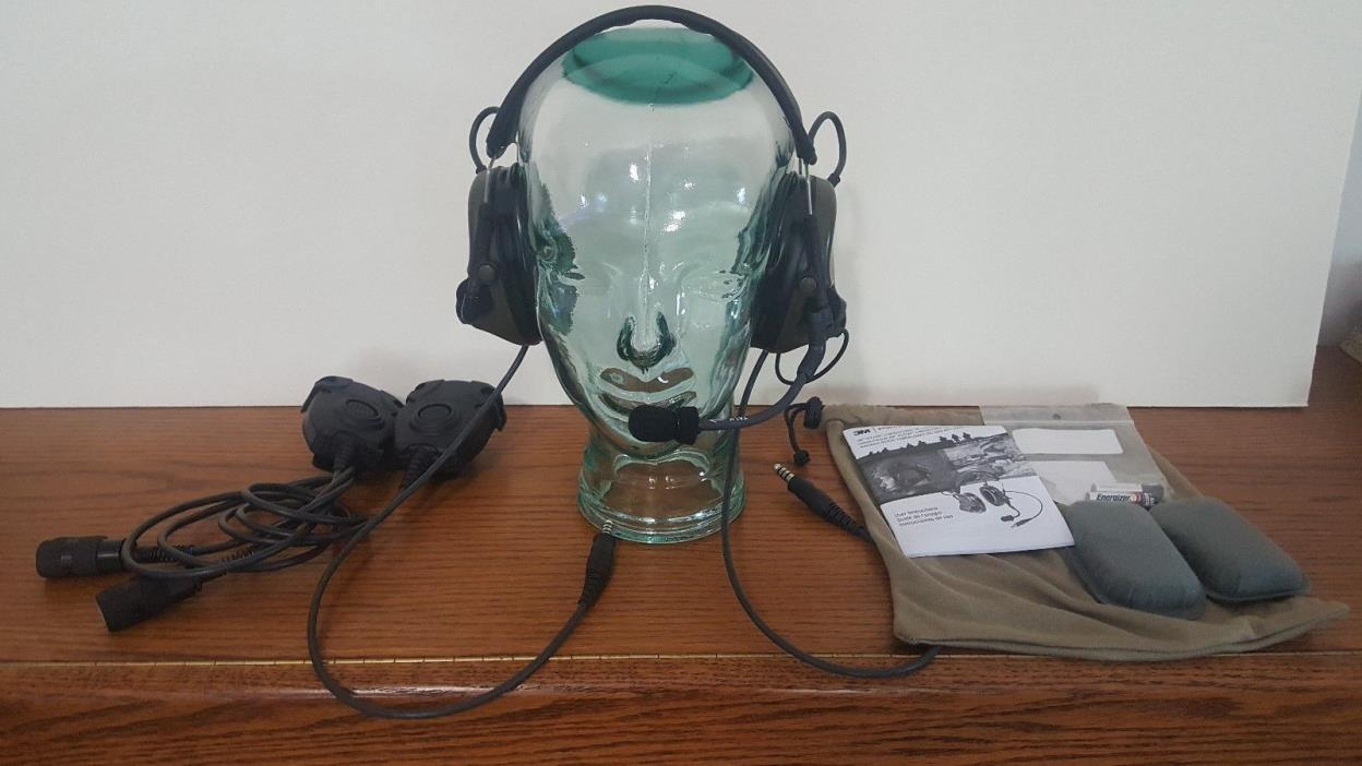 3m Peltor Com Tac III ACH Kit Dual Comm Headset with dual push to talk