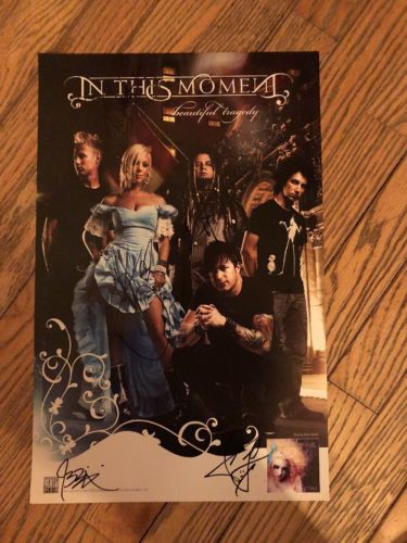 In This Moment Band Promo Poster Signed Beautiful Tragedy