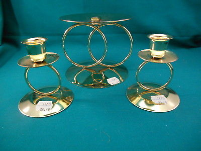Unity Candle Holder Set * Gold Wedding Rings