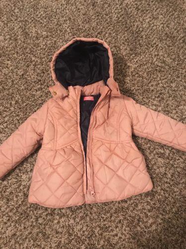 MINOTI Pink Girls Toddler 24 Month Puffer Quilted Jacket Pink