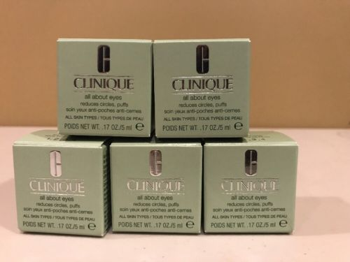 CLINIQUE All About Eyes MINI (.17oz/5mL) lot of 5, 25 Ml Total