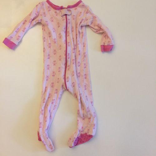 Ballerina sleeper leveret Girl Pink Pajama Footies 6 12 6m 12m Zipper Long