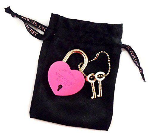 VS My Heart Belongs To VICTORIA'S SECRET Pink Heart Shaped Lock & Key NEW!