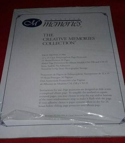 Creative Memories 12 x 15 Scrapbook Retired Page Protectors 13 SHEETS