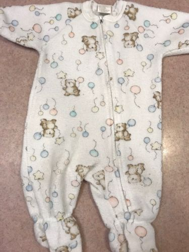 Carter's Infant One Piece Fleecer Sleeper Unisex Size 0-6 Months