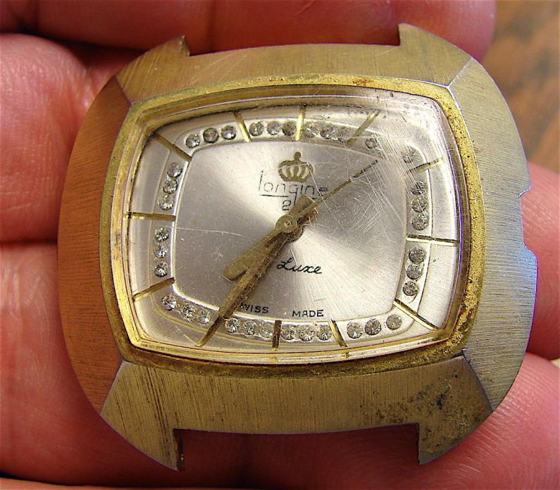 Vintage Swiss Longine For Parts------free ship