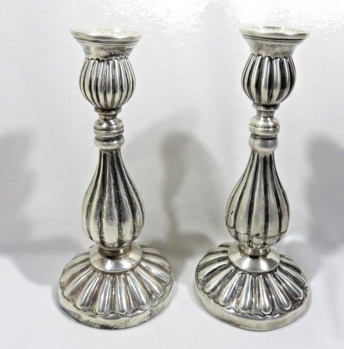 Vintage Silver Plated Candle Sticks Holders 71/4