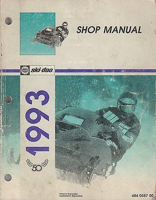 1993 SKI-DOO (see models in description) SHOP/SERVICE MANUAL 484 0587 00 (426)