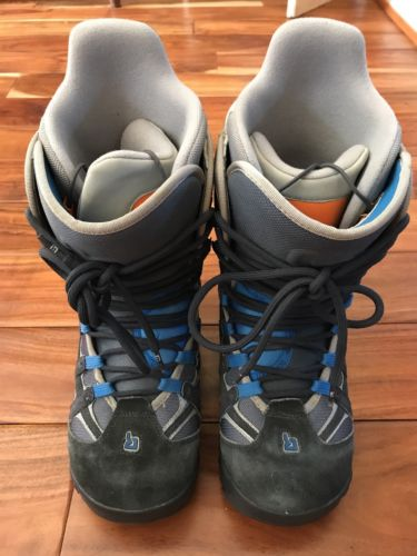 Mens BURTON MOTO SNOWBOARD BOOTS Gray and Blue ~ SIZE 9