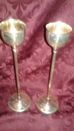 VINTAGE  WA SILVER PLATE CANDLE HOLDERS