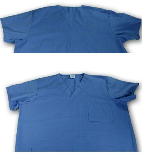 Med Gear Scrub top Blue Butterflies Size 2xl nursing uniform