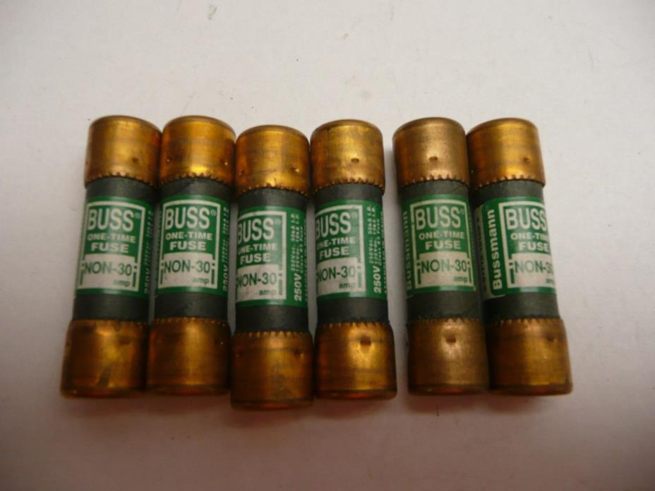 LOT OF 6  BUSS FUSES  NON-30A / 250V