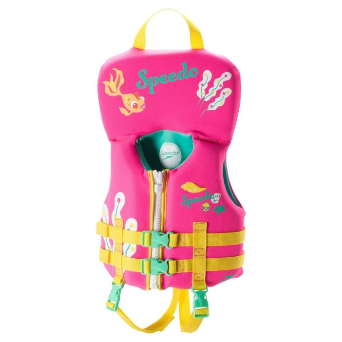 Speedo Infant Neoprene Lifevest - Blue, Pink 51536730