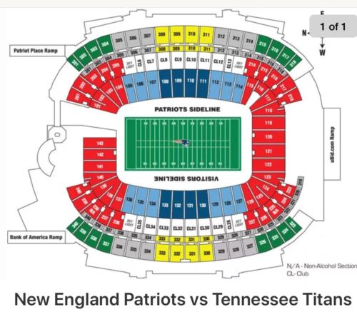 New England Patriots vs Tennessee Titans - Lower level