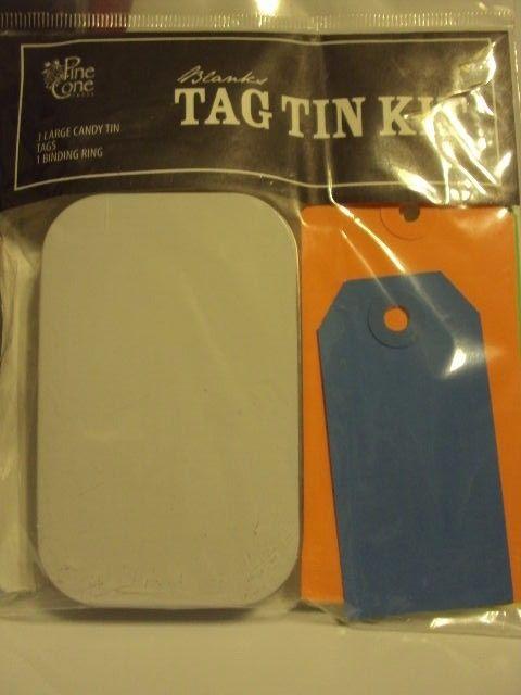 TAG TIN    KIT *** 1 LARGE CANDY TIN  / TAGS 6  / 1 BINDING RING