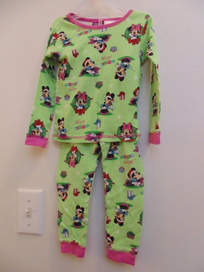 Disney Girls Minnie 3T PJ set Multi-color long sleeves and pants 100% Cotton