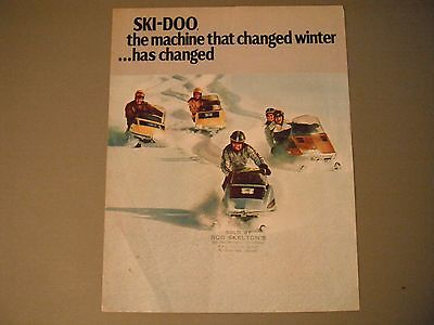 1973 Vintage Ski-Doo Snowmobiles Brochure