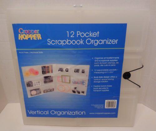 NEW Cropper Hopper 12 Pocket Scrapbook Vertical Organizer Acid Free