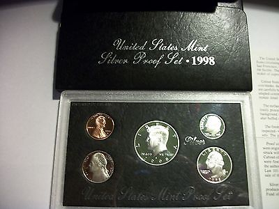 1998-S US SILVER Proof Coin Set