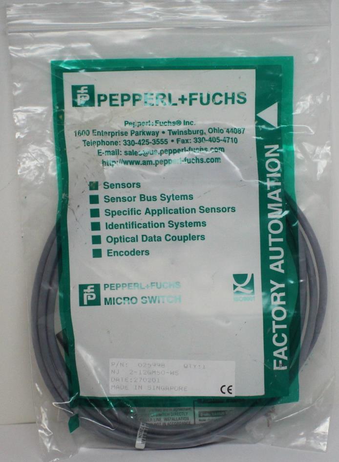 New Pepperl Fuchs Inductive Proximity Sensor Switch   NJ2-12GM50-WS