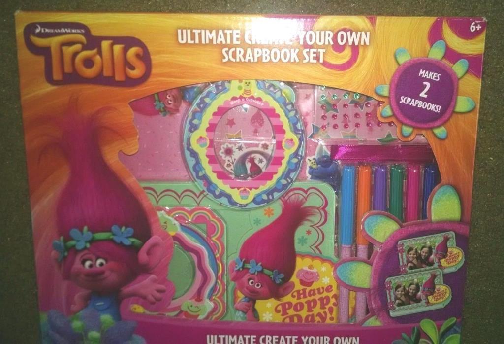 Dreamworks Trolls Ultimate Scrapbook Set, Create Your Own