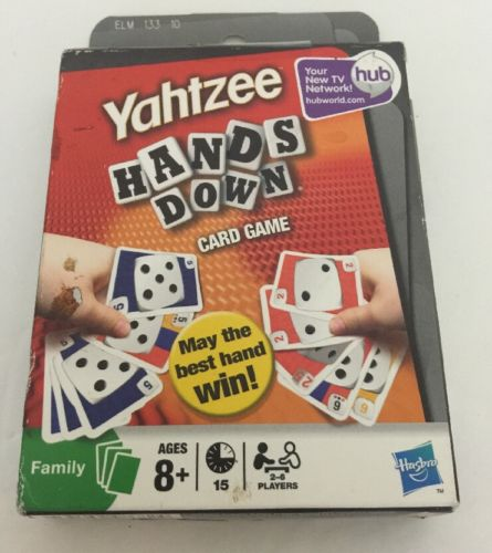 Yahtzee Hands Down Card Game HASBRO