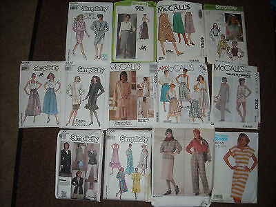 Vintage Sewing Patterns! 70's and 80's...lot of 13... most uncut!