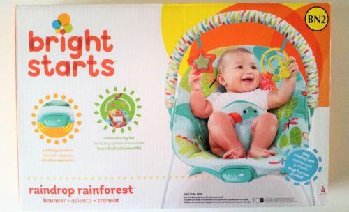 bright starts raindrop rainforest bouncer