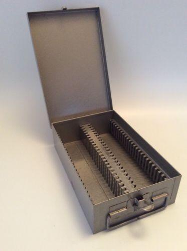 Vintage - Metal Case, Box, Storage - Projector Film, Slides - 50 Slots