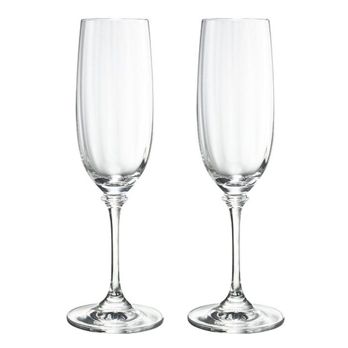 Mikasa Crystal 2 Champagne Flutes Glasses 8.5