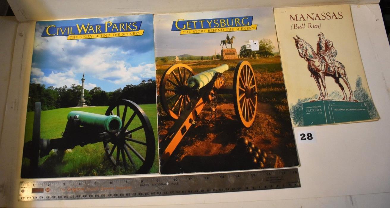 Gettysburg, Civil War illustrated  paperbacks lot of 3    #28