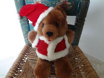 Dakin Christmas Bear stuffed animal plush 1984 9