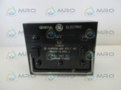 GENERAL ELECTRIC CLASS J FUSE BOX *USED*