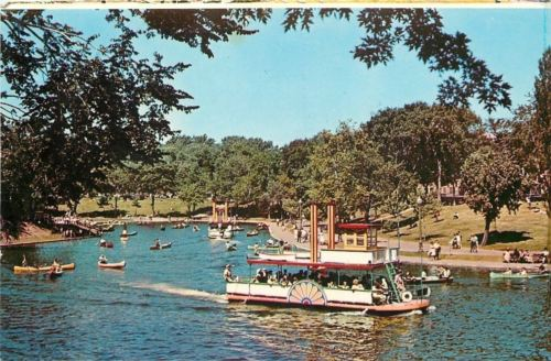 Montreal Quebec~Lafontaine Park Beach~Canoeing~Paddle Wheeler Boat~1975
