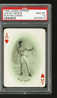 1909 James Jeffries Boxing   Billy Papke   Psa 10 Gem Mint   Pop 5   Rare Rare