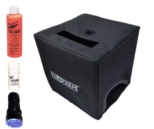 Glo Box Kit with Glo Germ Oil, Powder, 21 LED UV Flashlight & Folding Box