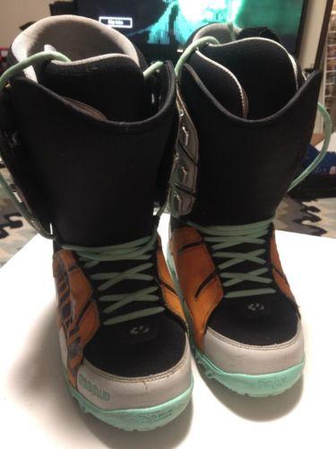 $200 THIRTYTWO 'Lashed' Snowboarding Boots in Aqua, Black, Orange Men's 9 EUR 40