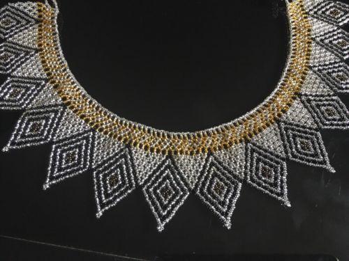 Handmade Guatemalan Beaded Cleopatra Necklace