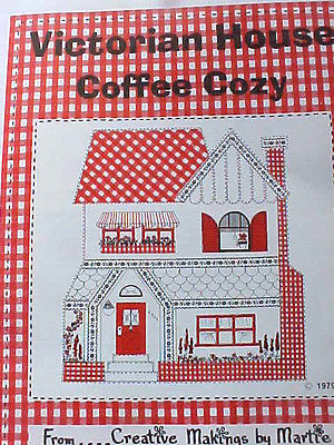 Vintage Quilt Pattern Victorian House Coffee Cozy 1979 Creative Makings Martie
