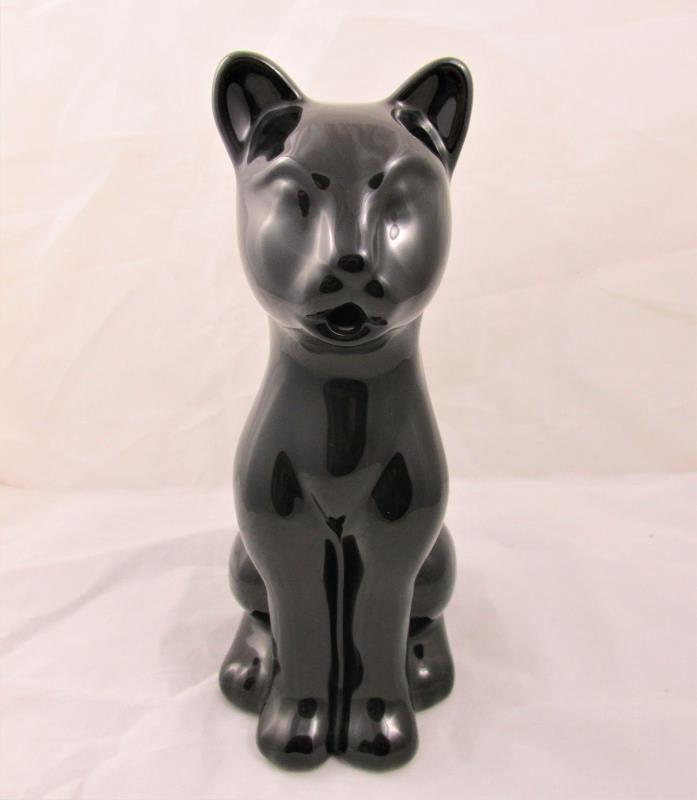 Ceramic Black Cat Creamer Pitcher Monkey and the Peddler Liz Ross for BIA 2005